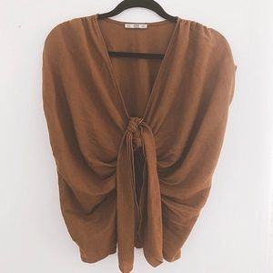 Zara knotted front crop top